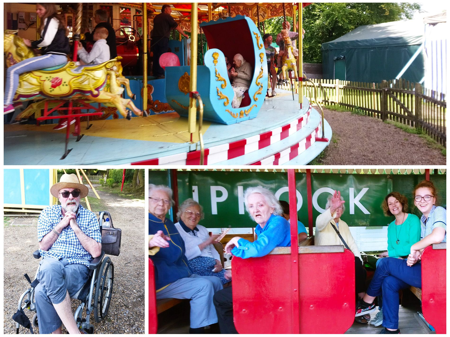Old Raven House Care Home resident enjoy day out at Hollycombe Steam Fair.
